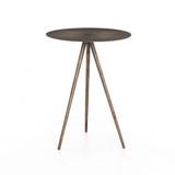Sunburst End Table in Aged Brass