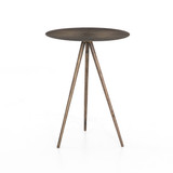 Sunburst End Table in Aged Brass
