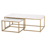 Carrera Nesting Coffee Table in Brushed Gold