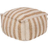 Oak Cove Stripe Pouf