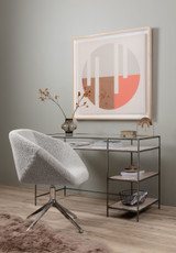 Farina Desk Chair in Knoll Domino