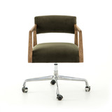 Tyler Desk Chair in Modern Velvet Loden