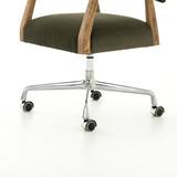 Tyler Desk Chair in Modern Velvet Loden