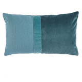 Connor Teal Velvet & Linen Pillow