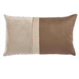 Connor Natural Velvet & Linen Pillow