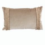 Addy Velvet Taupe Pillow