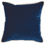 Velvet Denim & Linen Flange Pillow