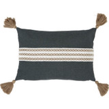 Carbon Lumbar Tassel Pillow