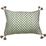 Sahara Herb Dot Tassel Pillow