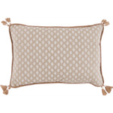 Sahara Chalk Dot Tassel Pillow