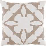 Gloria Applique Oyster & Natural Linen Pillow
