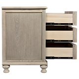 Curved  Front 3 Drawer Chest in Vintage Grey