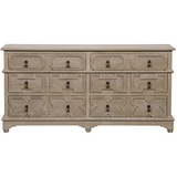 Watson 6 Drawer Dresser in Weathered Wood