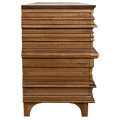 Bernard 6 Drawer Dresser in Dark Walnut