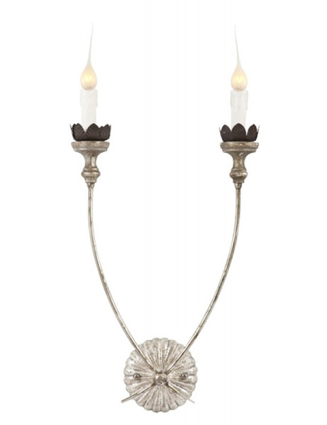 Silver Hasselt Sconce by Aidan Gray