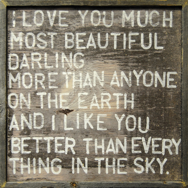 Sugarboo Designs I Love You Much Framed Art on Wood