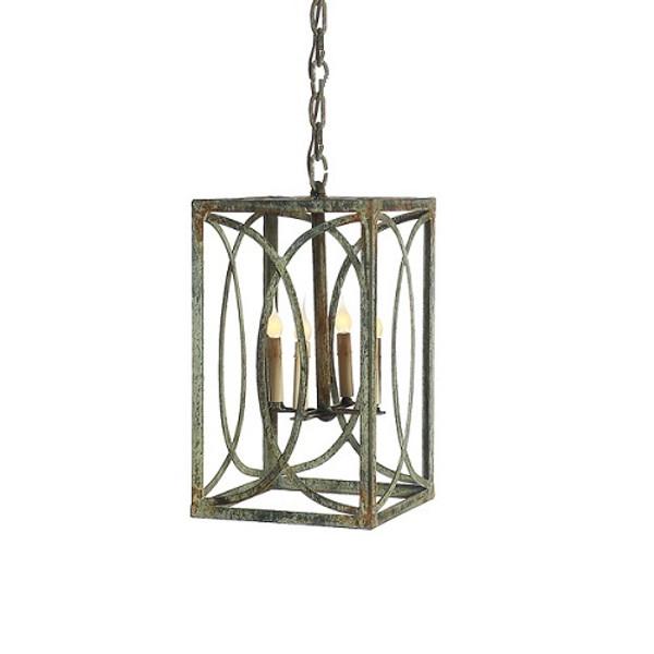 French Iron Charles Lantern 4 Light