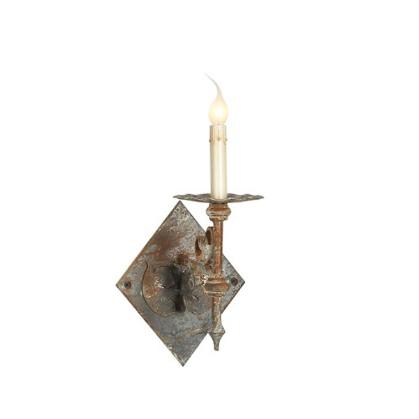 French Iron Trestle Single Sconce