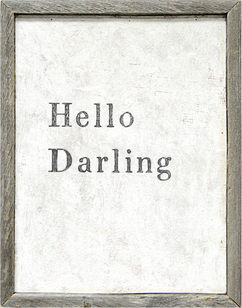 Sugarboo Designs Hello Darling Art on Wood