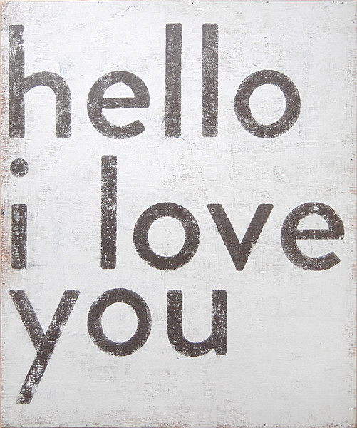 Sugarboo Designs Hello I Love You Art on Wood