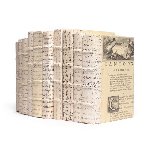 Decorative Books - White Antique Script