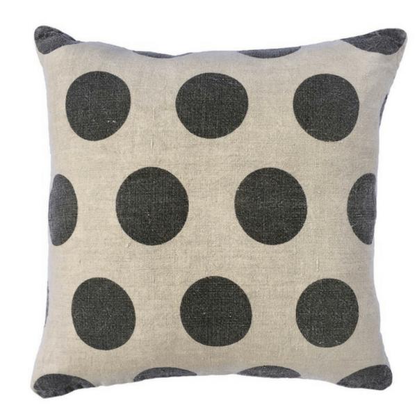 Polka Dot Linen Pillow