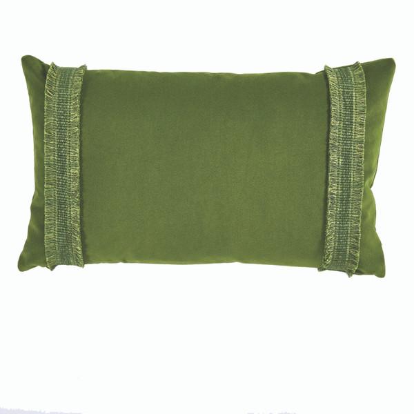 Addy Velvet Ivy Grass  Pillow