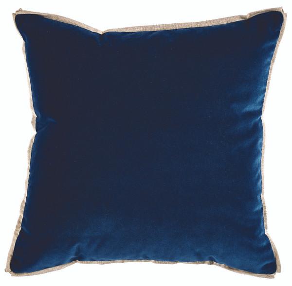 Velvet Denim & Linen Flange Pillow
