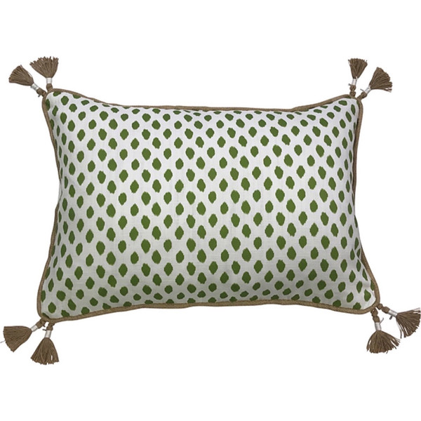 Sahara Herb Dot Tassel Pillow