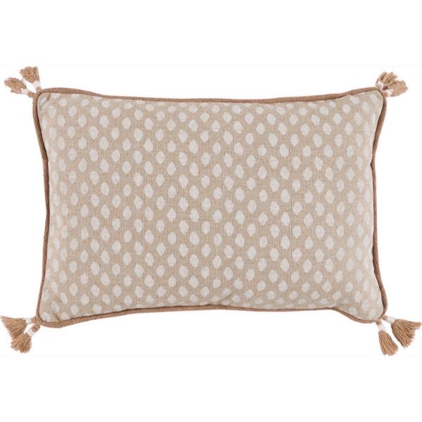 Sahara Chalk Dot Tassel Pillow
