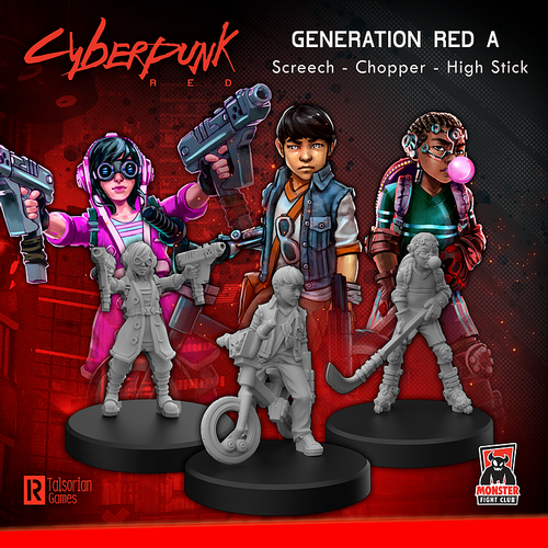 Cyberpunk RED Miniatures - Generation Red A