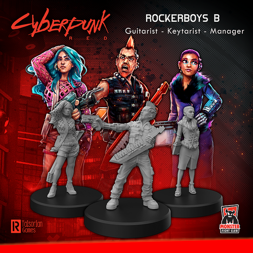 Cyberpunk RED Miniatures - Rockerboys A