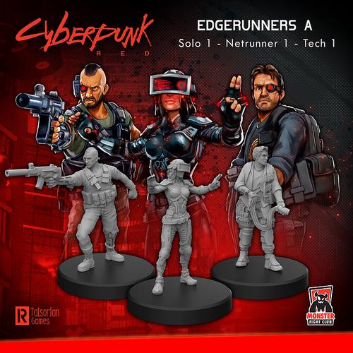 Cyberpunk RED Miniatures - Edgerunners A