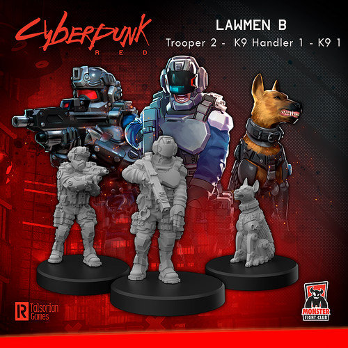Cyberpunk RED Miniatures - Lawmen B