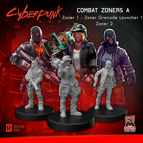 Cyberpunk RED Miniatures - Combat Zoners A