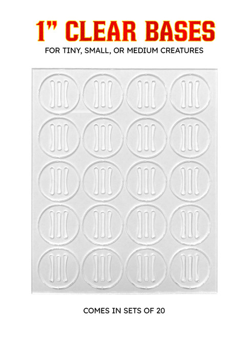 """Clear 1"""" Bases (Pack of 20)"""