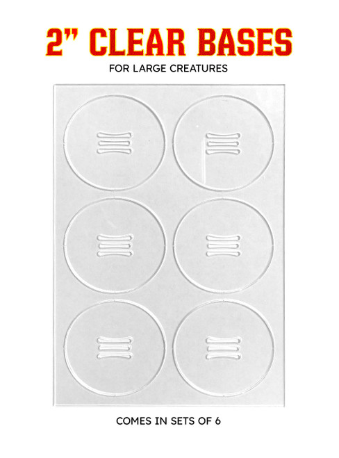 """Clear 2"""" Bases (Pack of 6)"""