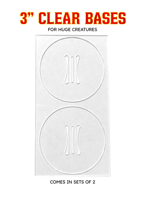 """Clear 3"""" Bases (Pack of 2)"""