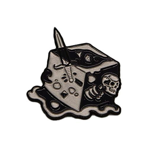Black Ooze Gelatinous Cube - Enamel Pin