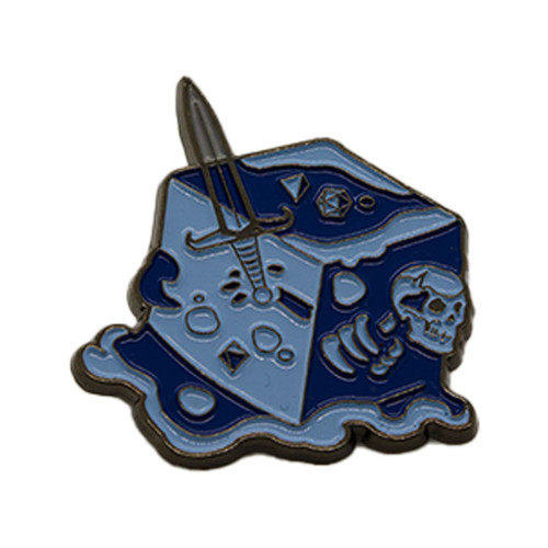 Gelatinous Cube Pin - Blue
