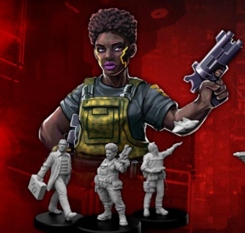 Cyberpunk RED Miniatures - Edgerunners G