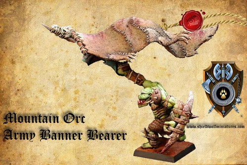 Mountain Orc Army Banner Bearer