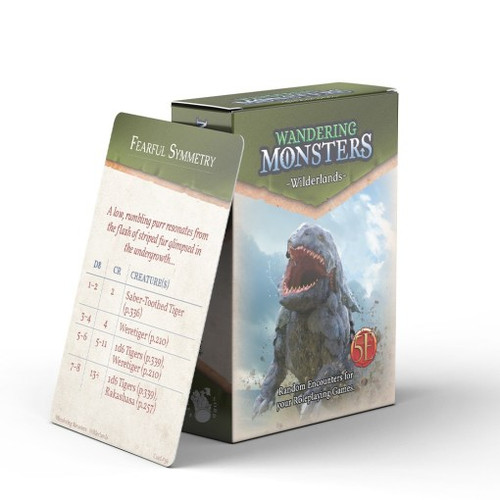 Wandering Monsters Deck: Wilderlands (5E)