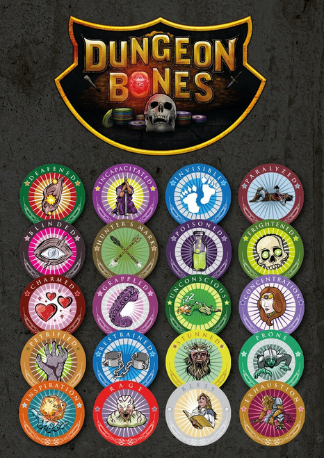 D&D Condition Chips by Dungeon Bones