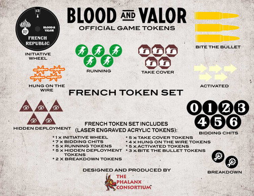 Blood and Valor French Token Set