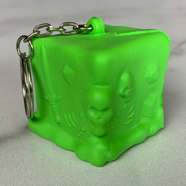 RPG Squeeze Gelatinous Cube Keychain