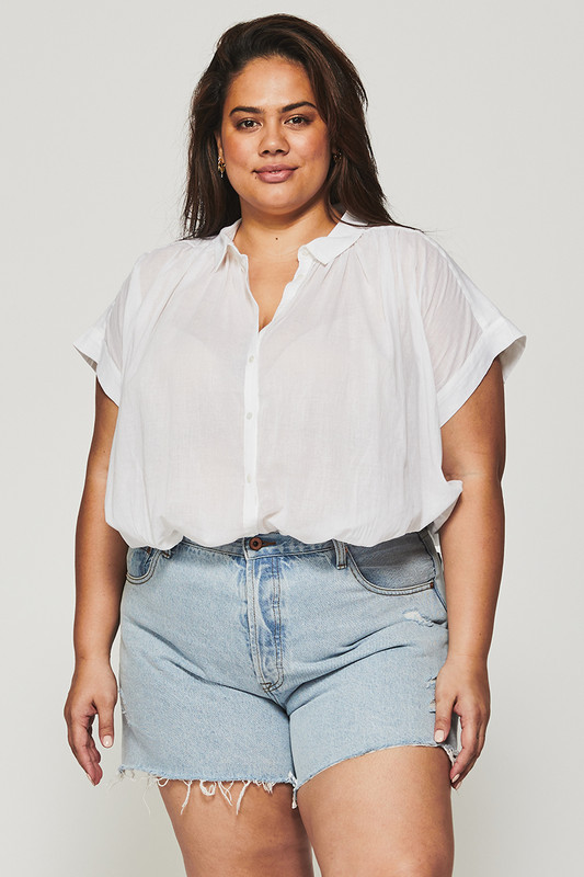 Classic Button Down Shirt in White