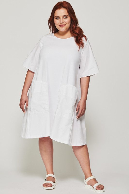 Sonia Swing Dress in White