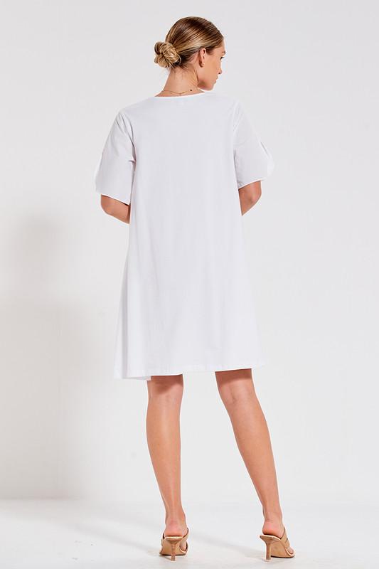 Sonia Swing Dress in White