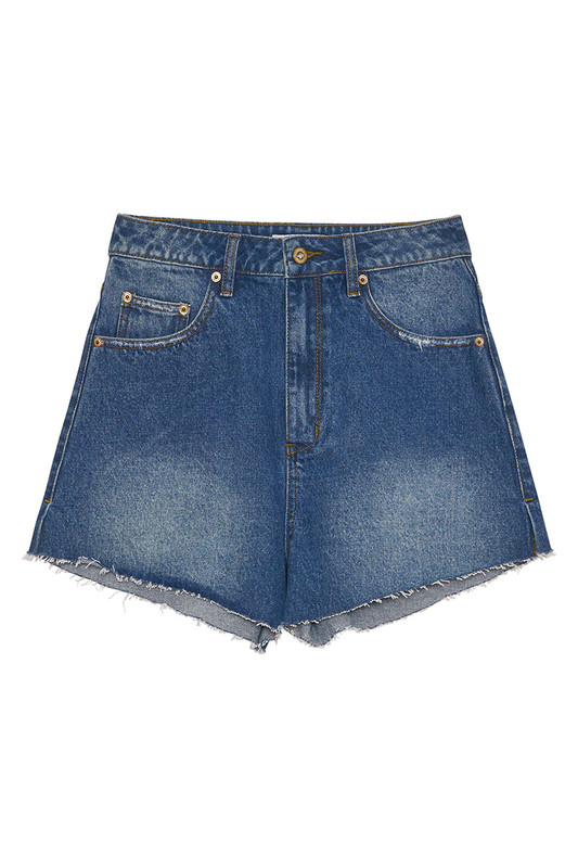 Farrah Denim Short in Vintage Blue